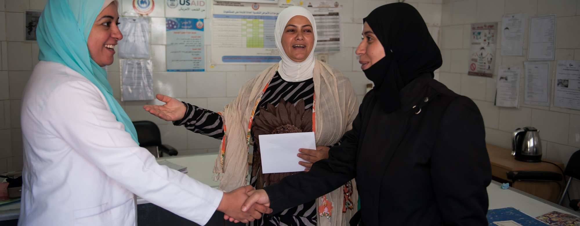 Outreach workers like Fadia Abdel Meguir serve as a bridge, connecting fellow refugees to the health services they need.